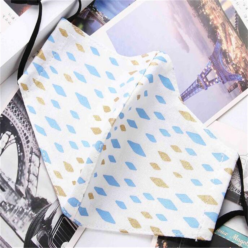 5pcs/Pack New General Purpose Mask For Men And Women Mask Spring And Summer Mask Fresh Printed Cotton Masks Men And Women