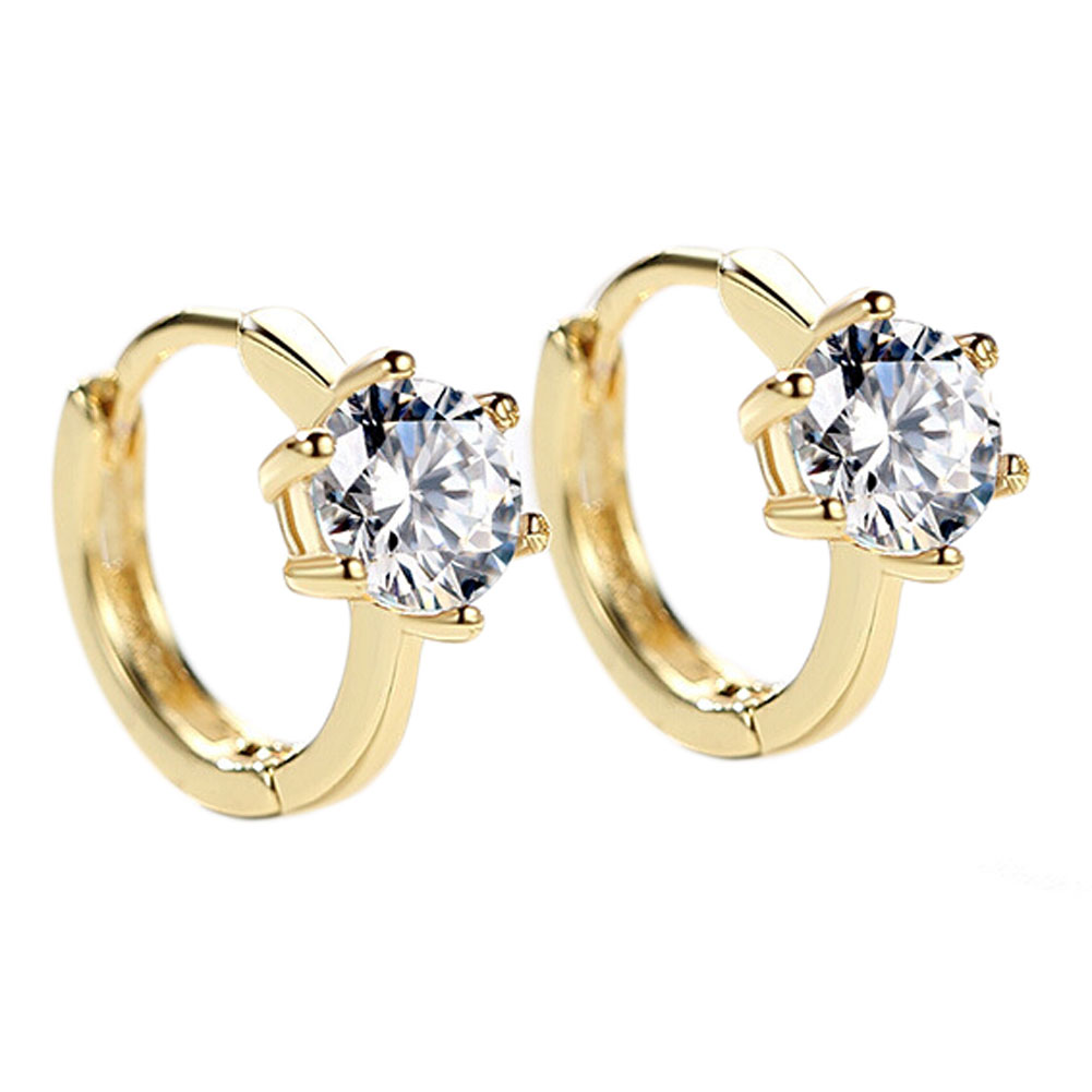 2017 New Design Zircon Crystal Hoop Earrings For Women