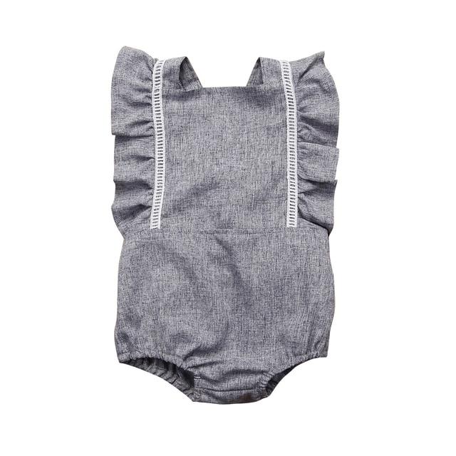 0eefdafb78 Verano 2018 recién nacido Niño bebé niñas espalda descubierta volantes  manga mameluco trajes traje de sol