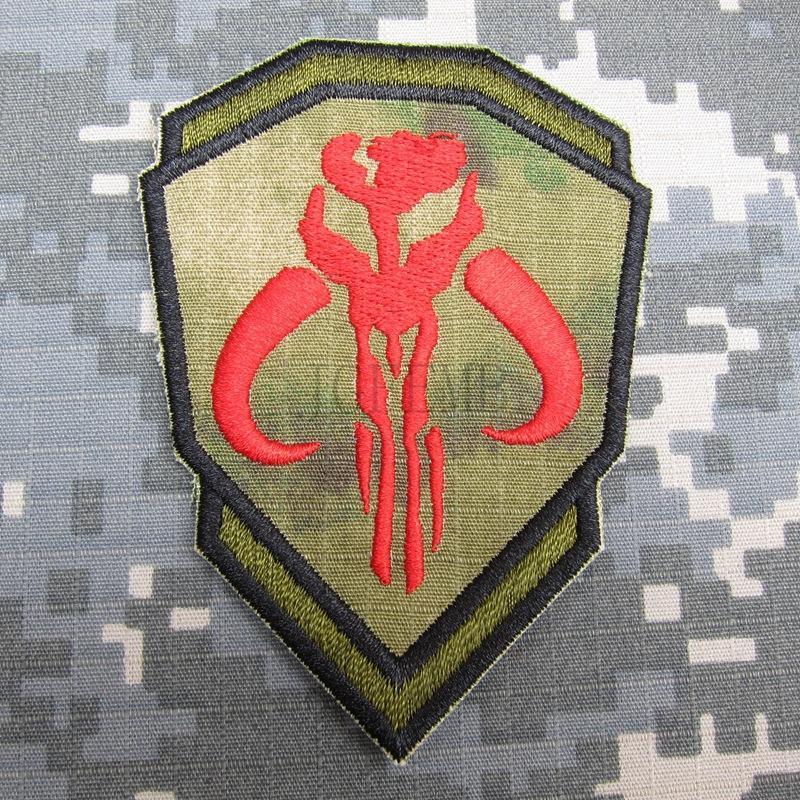 A-TACS FG Boba Fett Mandalorian Bantha Skull BOUNTY HUNTER Embroidery patch B3388