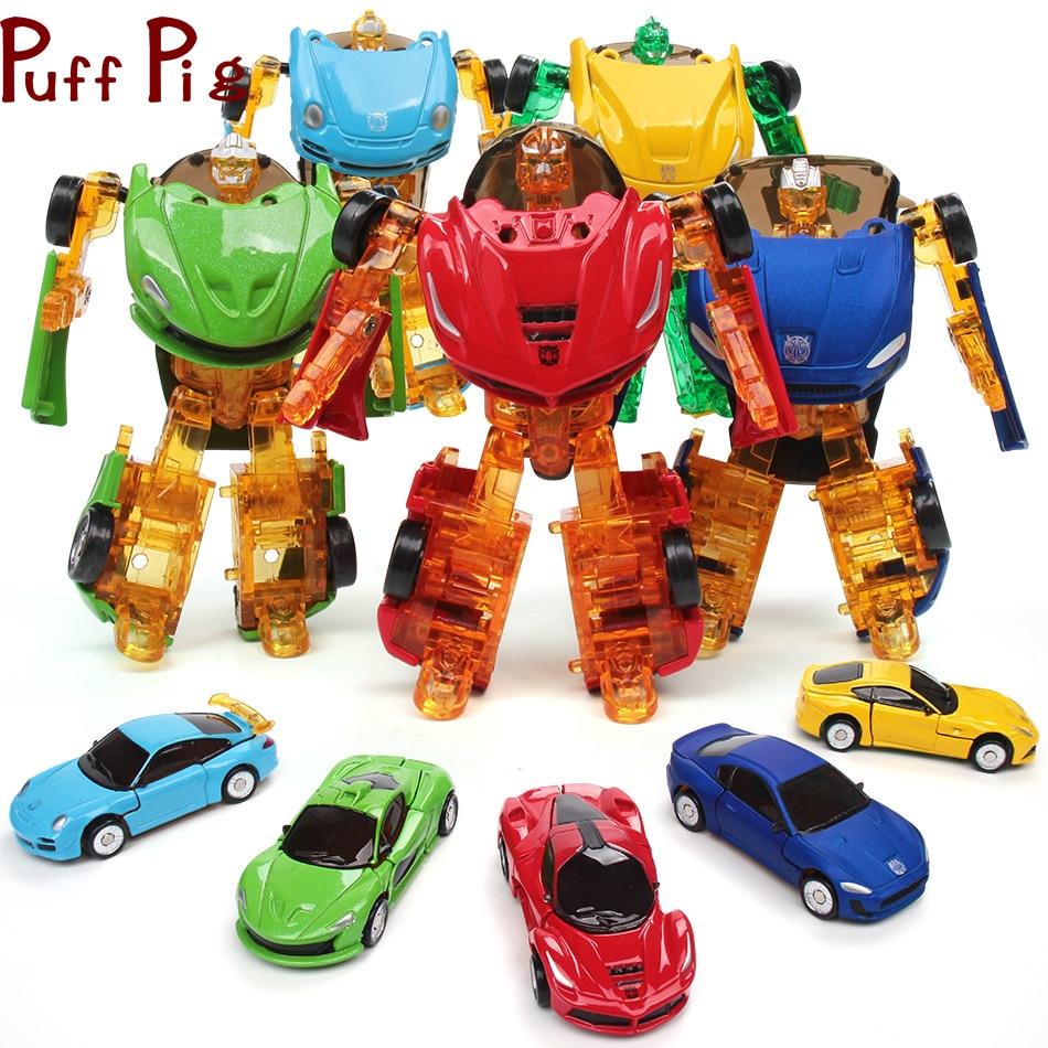 17 estilo 10CM Mini Figura De Acción De Transformación Robot Tanque De Coches Aviones Niños Juguete
