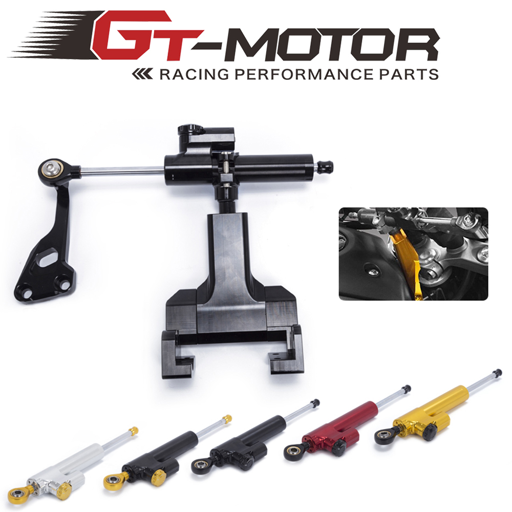GZYF Motorcycle Racing Steering Damper Stabilizer Control Bar with Bracket Mounting Kit Full Set Compatible with Honda CB650F 2014-2016