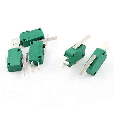 5 Pcs AC250V/125 V 16A Lurus Engsel Lever SPDT Micro Limit Switch KW3-OZ