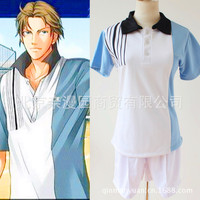 Prince Of Tennis Ice Emperor Cosplay Uniform Sportswear Summer School UniformShort Sleeve Summer Clothes Cosplay Costume