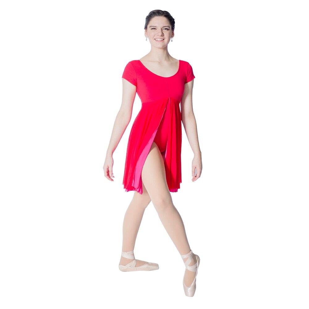 Retail Black,Purple,Red,Royal Blue Cotton/Lycra Ballet Dance Leotard Mesh Skirts for Ladies and Girls