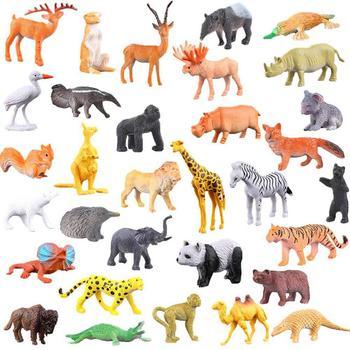 53 cái Rừng Mô Hình Động Vật Mô Phỏng Thế Giới Động Vật Đồ Chơi Thiết Lập
