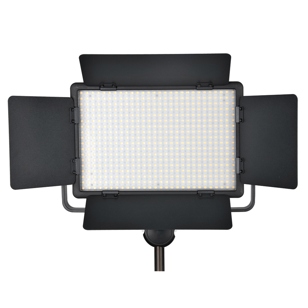 Godox 500 LED Lampe Panneau LED500C 3300-5600 K Bi-couleur/LED500W Blanc Vidéo Lumière Éclairage + puissance Adaptateur + Sans Fil À Distance