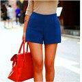 2016 Pantalones Cortos de Invierno de Las Mujeres Dulces de Colores Pantalones Cortos de Lana de Cintura Alta Imitar Botas Sólidas Shorts Casual Wear Plus Size DK-026