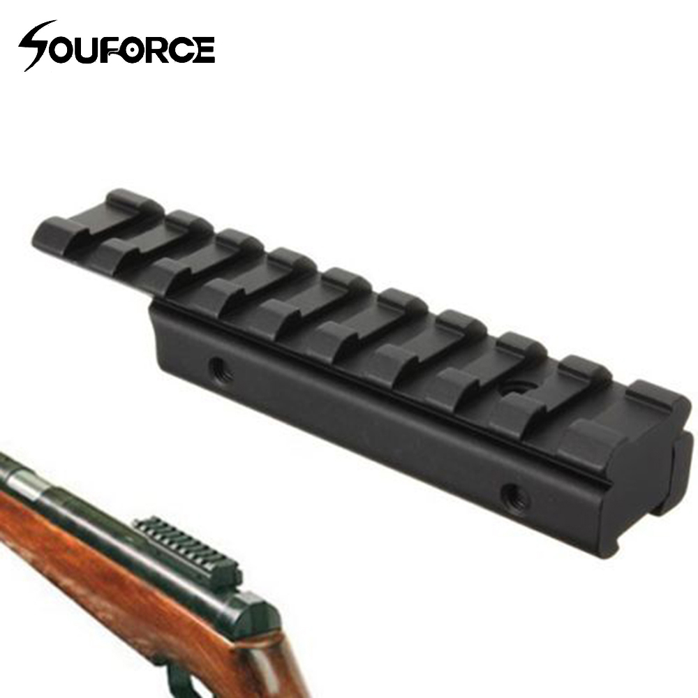 Shotgun Rifle Scope Mount Base Dovetail Extend Weaver Picatinny Rail Adapter 11mm To 20mm For Hunting