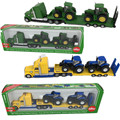 1: 87 Siku Грузовик С New Holland Тракторы Модель Игрушки 1805 LKW mit New Holland Traktoren Kids Toys High качество