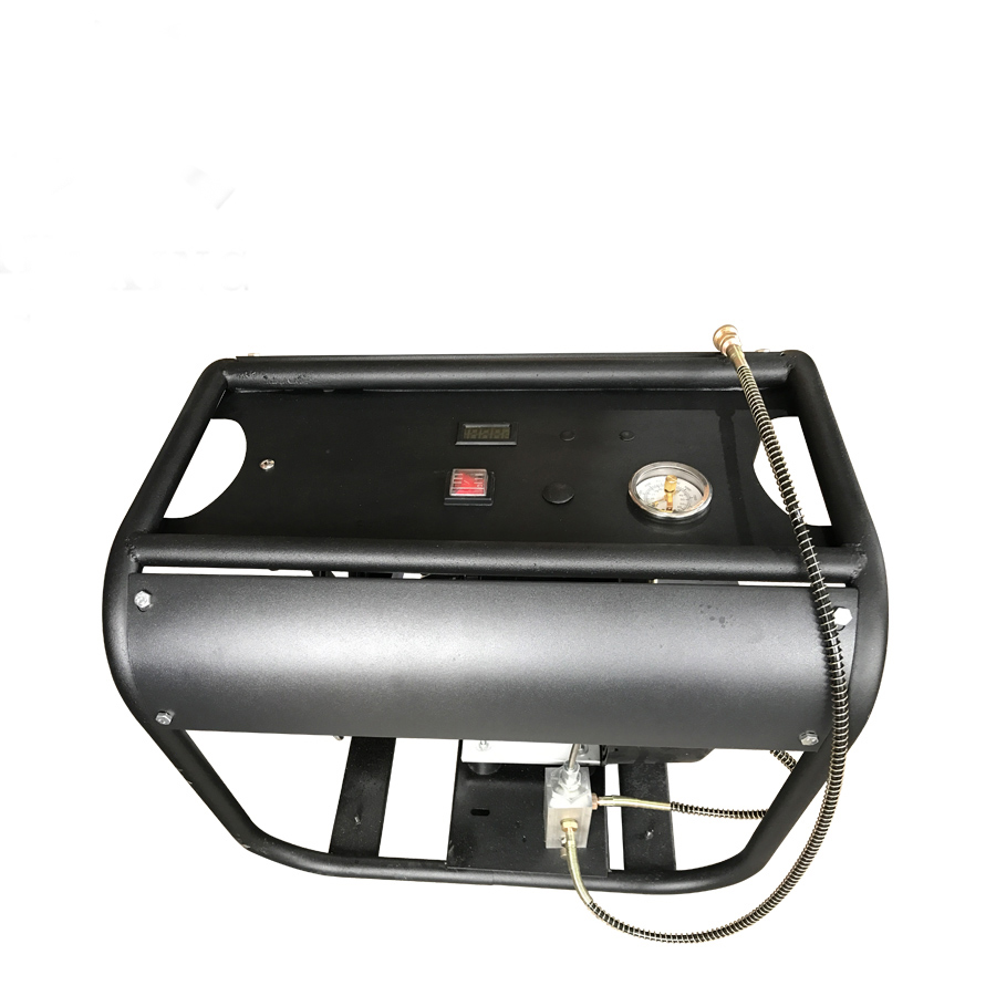 4500PSI 300bar 30mpa Adjustable auto stop function Electric double Cylinder air compressor for PCP air tank