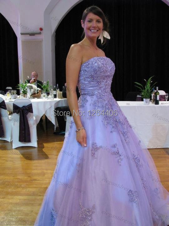 free shipping sleeveless beaded ball gown purple wedding dresses princess wedding dress