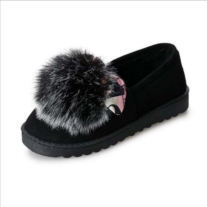 0964c14b13a Detail Feedback Questions about 2018 New Women Winter Snow Boots Keep Warm  Plush Boots Women Fluff Shoes Fur Suede Flats Women Sneakers Winter on ...