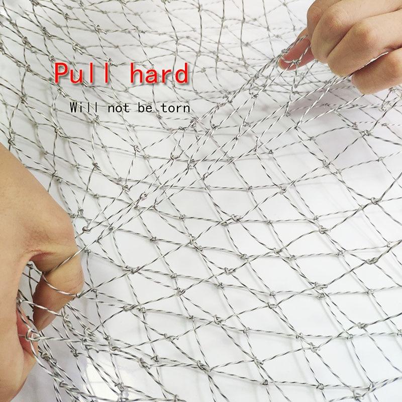 Nylon Fishing Nets Fishing Trackle Collapsible Rhombus Mesh Hole 3Sizes Depth Folding Dip Net
