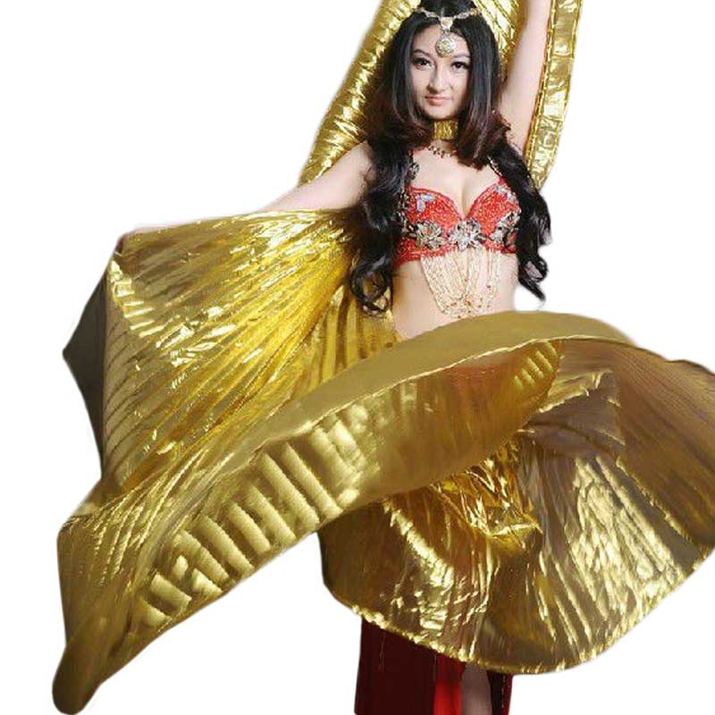 2016 Hot Popular Women Egyptian Belly Dance Isis Wings Of Gold In The Sale Of 10 Color HOT Wholesale Without Sticks