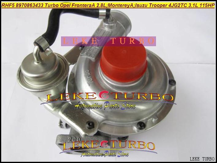 Free Ship RHF5 8970863433 VB430023 8970863435 Turbo For OPEL Frontera A 2.8L Monterey A 3.1TD For ISUZU Trooper 4JG2TC 4JG2 3.1L free ship turbo rhf5 ve430021 vibx 8971228842 8971480750 turbocharger for isuzu trooper d max for opel monterey 4jg2 4jg2tc 3 1l