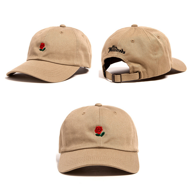 cb0cbd748df Beige pop cap Brand Hundreds Rose Strap Back Cap men women Adjustable 6  panel golf polos snapback baseball hats