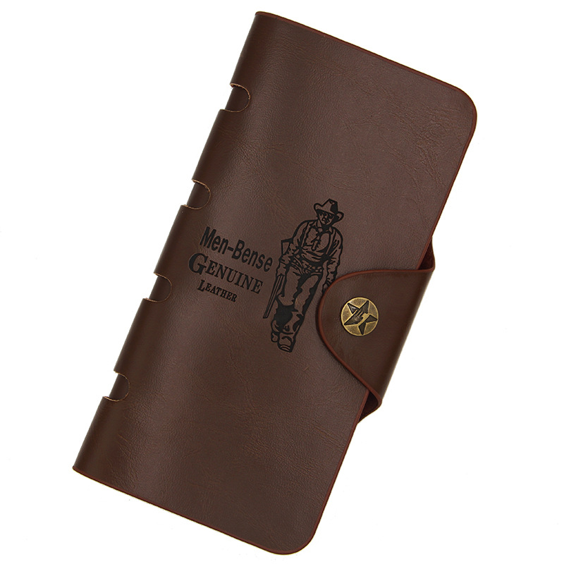 2018 Vintage Wallet Men Leather Men Wallets Purse Large capacity Leather Wallet Mens Money Bag Multifunctio Long Coin Purse