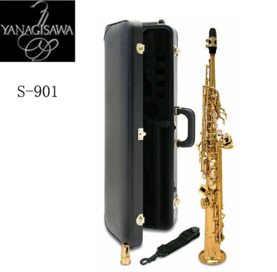 New Arrival 2018 Japan YANAGISAWA S-901 Soprano Saxophone High Quality Yanagisawa Straight B flat Sax Musical Free Shipping