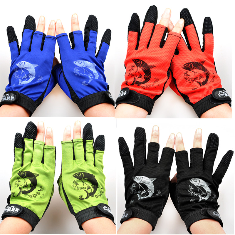 Free Shipping 2 Pairs Fishing Gloves Anti Slip and Durable Outdoor Sports Slip-Resistant Cyling Gloves Mitten Peaca Equipment