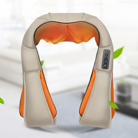 Relaxation Electric Massage Machine Shoulder Neck Massage Beige And Orange Color For Home Car Office Professional