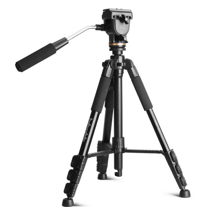 все цены на Original QZSD Q111S Video DSLR Digital Camera Tripod Portable Light weight Professional Photography Tripod Stand for Travelling онлайн