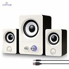 Тетрадь настольный компьютер мини Динамик USB Powered аудио мультимедиа домашнем компьютере Динамик активные мультимедийные стерео сабвуфер