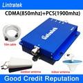 Lintratek PCS CDMA Sinal de Telefone Celular Impulsionador Repetidor De Sinal GSM 850 1900 Dual Band Amplificador de Sinal para OS EUA, méxico, Canada