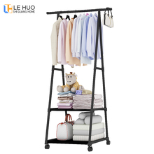 New style Coat Rack Stainless steel nonwovens Simple Assembly can be removed Bedroom move clothes hanger Convenience wardrobe