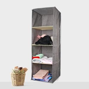 Image 2 - Cotton Closet Wardrobe Cabinet Organizer Hanging Pocket Drawer Clothes Storage Clothing Home Organization Accessories Supplies