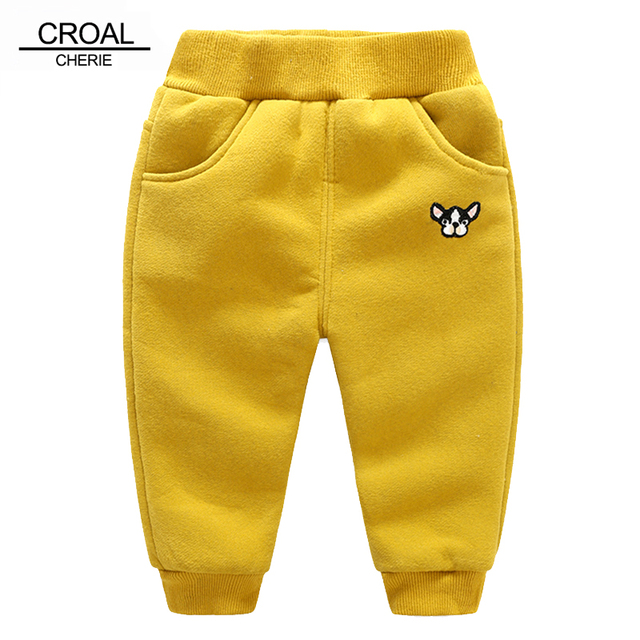 63a574e17affc CROAL CHERIE 80-120cm Winter Baby Girls Boys Trousers For Kids Velvet  Leggings Thicken Boy Pants Kids Children Clothing