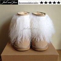 Cute Eskimo No Bearpaw Womens Furry White Black Pink Mongolian Fur Boots Winter Outside Plus Size