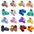 2016 100% Genuínos Mocassins De Couro Do Bebê mão-feito subiu meninas de ouro Sapatos de Bebê meninos borla Primeira Walker Chaussure recém-nascidos sapatos