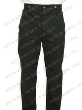 Free Shipping Cool Black Cotton Mens Steampunk Trousers