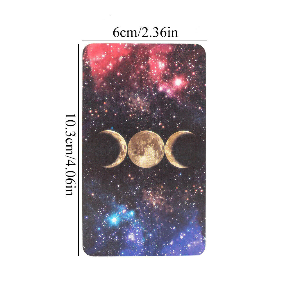 1 Box 78 Cards Witch Tarot Deck Future Fate Indicator Forecasting Cards Table Game NSV775