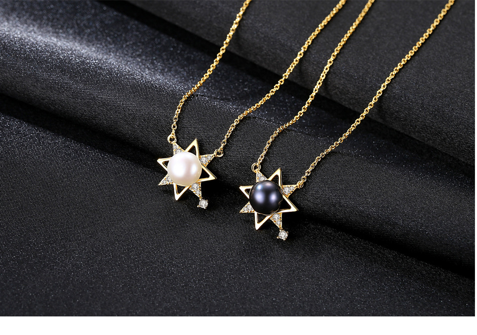 S925 sterling silver necklace female clavicle chain fashion freshwater pearl pendant necklace FH02S925 sterling silver necklace female clavicle chain fashion freshwater pearl pendant necklace FH02