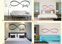 Infinity Symbol Bedroom Wall Decal Faith Family Forever Home Beauty Home Decor
