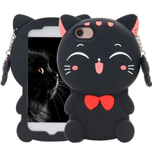 Lucky Fortune Cat Case For iPhone ,3D with Cute Bow Tie Soft Silicone Rubber for Phone