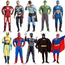 Cosplay Adult Muscle Hero Costume Hulk Spiderman Batman Iron Man Superman and other Avengers superheroes play costumes