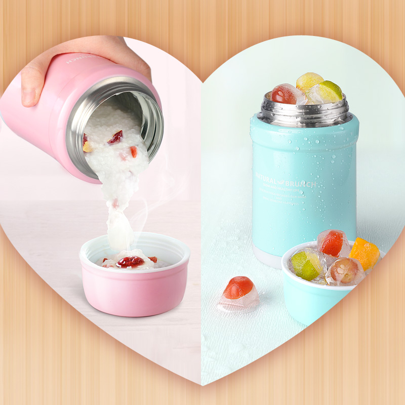 ONEDAY Thermos Food Container Vacuum Flask Soup Food Thermos Bottle with Thermo Bag Soup Pot Lunch Box Insulated Food Container