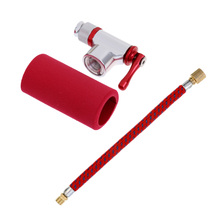 16.5cm Pump Extension Hose and CO2 Pump Bike Tyre Tube Inflator Presta Shrader Bicycle Accessories цена
