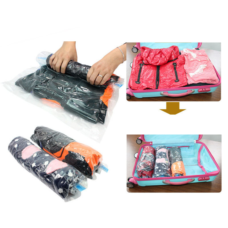 42ceb883c5c 100pcs Vacuum Compression Bags for Travelling Hand Rolling Vacuum Bag 35*50cm  Roll up Compression Storage Bags ZA4687-in Storage Bags from Home & Garden  on ...