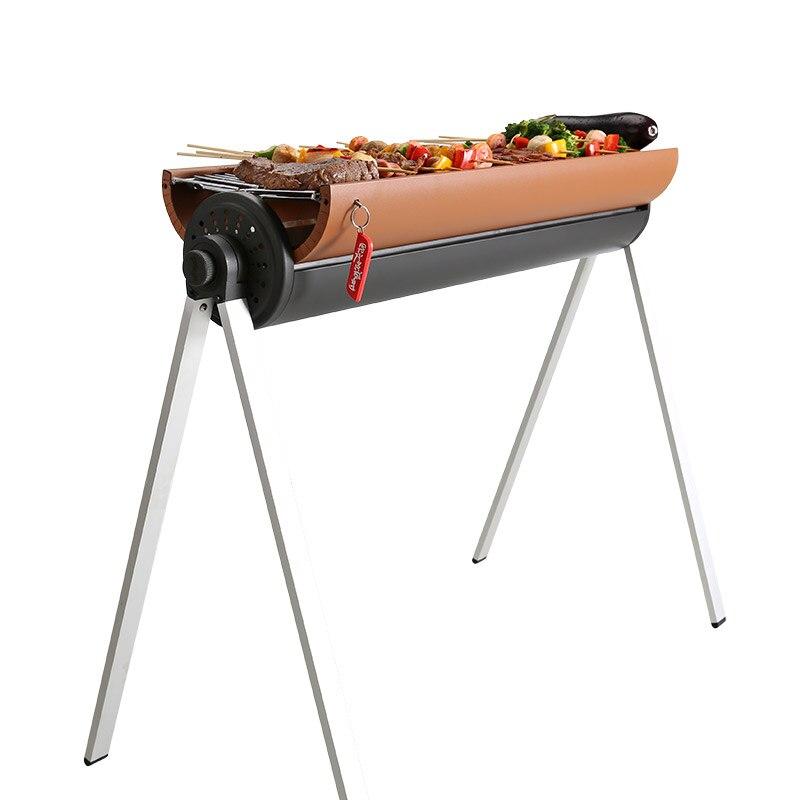 Support de Barbecue Portable extérieur en métal, outils de Barbecue Barbecue pour plus de 5 personnes, ensemble de Barbecue au charbon de bois
