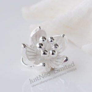 Solid 925 Sterling Silver Charm, Lotus Spacer Bead Pendants For Necklace  Jewelry Making, 1piece