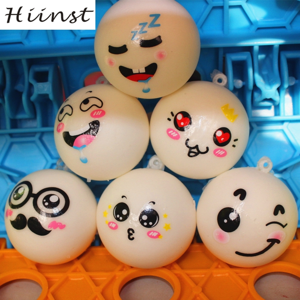 HIINST colorful three style Squishy Squeeze Reliever Soft Face Scented decompression Bun slow rebound Toys AUG1540P