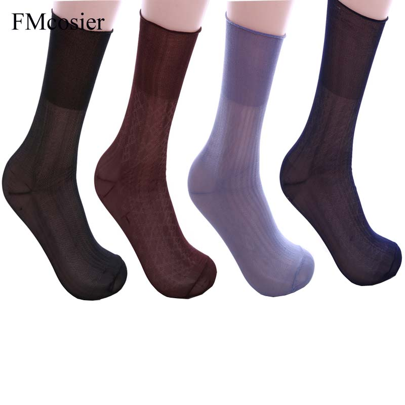 8 Pairs Summer Male Elastic Relax Comfortable Thin Socks For Men Mens Meias Gifts Dress Socken Calcetines Plus size sox 43 44 45