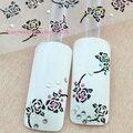 Decalques para unhas decoração 3d da arte do prego adesivos flor rosa strass ferramentas XF232