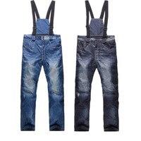 Free Shipping Full Protection Denim Men Waterproof Windbreak Wear Ski Pants Jeans Snowboard Ski Winter Promotion