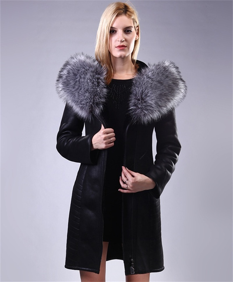 Aliexpress.com : Buy New Real Fur Women's Jackets Coat long style ...