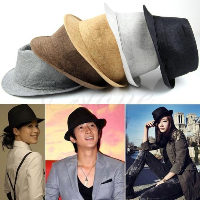 Free Shipping Fashion Mens Women Unisex Casual Fedora Hat Trilby Straw  Panama Beach Sun Cap b646ae8f3f6